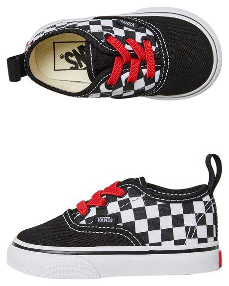 09c72c1de3 Vans Authentic Elastic Lace Shoe - Kids - Black Red White