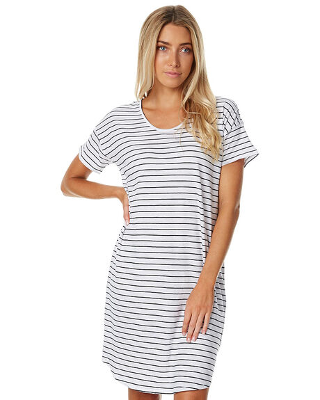 WHITE BLACK WOMENS CLOTHING ASSEMBLY DRESSES - AW-W1797WHTB