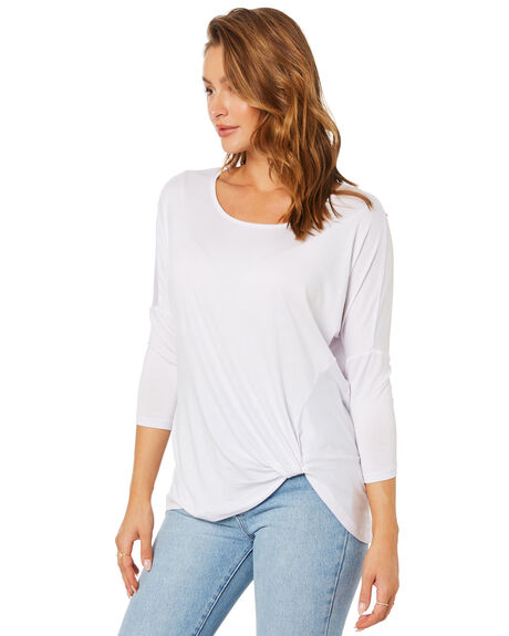 WHITE WOMENS CLOTHING BETTY BASICS TEES - BB533T21WHT