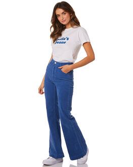 FRENCH BLUE CORD WOMENS CLOTHING ROLLAS JEANS - 13058-4551