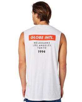 WHITE MENS CLOTHING GLOBE SINGLETS - GB01822005WHT