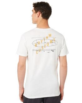 WHITE MENS CLOTHING RHYTHM TEES - OCT18M-PT11-WHT