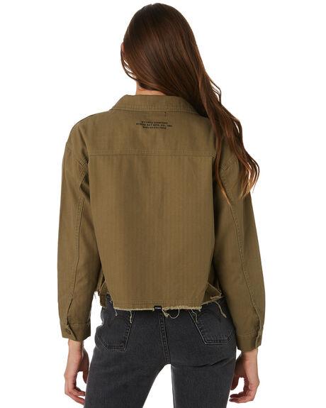 ARMY GREEN OUTLET WOMENS THRILLS JACKETS - WTW9-204FARMY