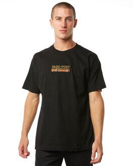 BLACK MENS CLOTHING PASS PORT TEES - R23INTMBBLK