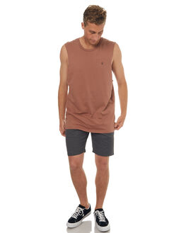 DUSTY BROWN MENS CLOTHING VOLCOM SINGLETS - A3731624DBN