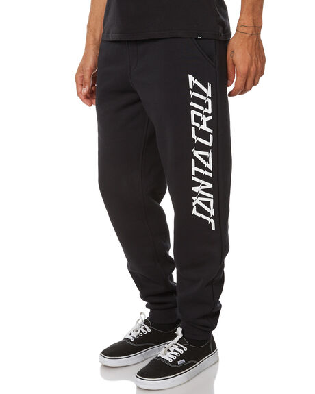 BLACK MENS CLOTHING SANTA CRUZ PANTS - SC-MFB7519BKL