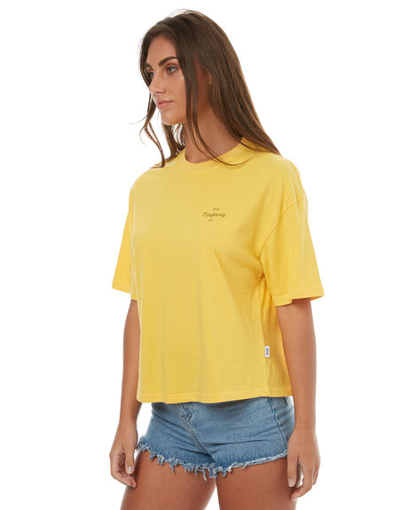 YELLOW WOMENS CLOTHING RPM TEES - 7HWT02BYELL