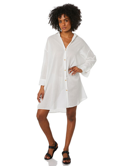 WHITE WOMENS CLOTHING LILYA DRESSES - LS20-D16-THCWHT