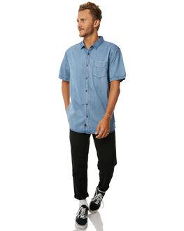BRUISE BLUE MENS CLOTHING GLOBE SHIRTS - GB01514012BBLU