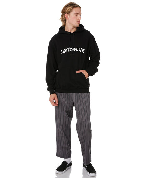 BLACK MENS CLOTHING POLAR SKATE CO. JUMPERS - PSCSKLF-BLK