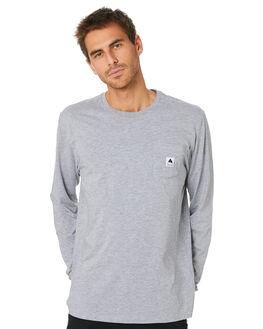 GREY HEATHER MENS CLOTHING BURTON TEES - 20393101020