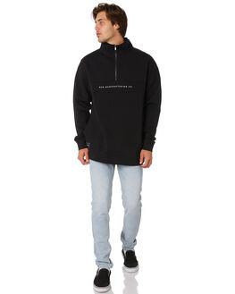 BLACK MENS CLOTHING RPM JUMPERS - 9AMT12ABLK