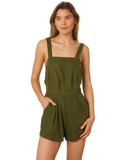 MUSTANG GREEN WOMENS CLOTHING RUE STIIC PLAYSUITS + OVERALLS - SA19-42-MG