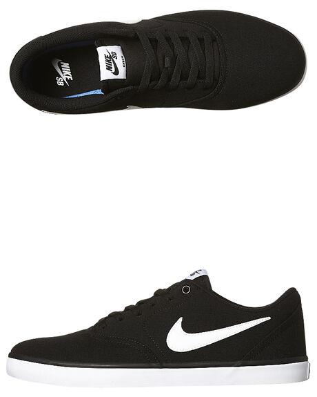 25bca114146 Nike Womens Sb Check Solarsoft Canvas Shoe - Black White