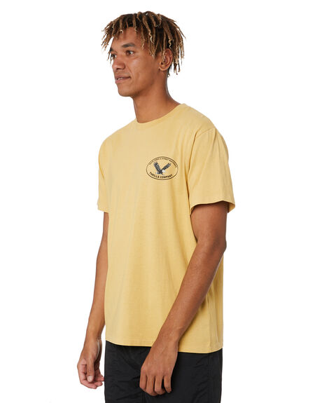 HERITAGE YELLOW MENS CLOTHING THRILLS TEES - TR20-121KHYL