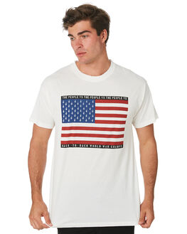 WHITE MENS CLOTHING THE PEOPLE VS TEES - W19001WHT