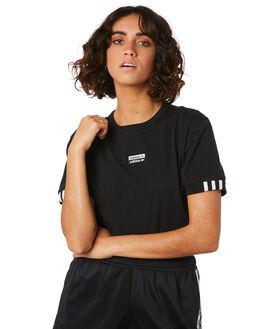 BLACK WOMENS CLOTHING ADIDAS TEES - ED5842BLK