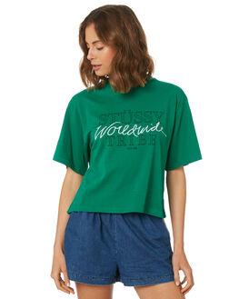 KELLY GREEN WOMENS CLOTHING STUSSY TEES - ST183005KEL