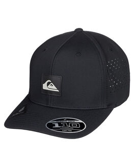 BLACK MENS ACCESSORIES QUIKSILVER HEADWEAR - AQYHA04559-KVJ0