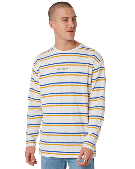 GOLD STRIPE MENS CLOTHING RPM TEES - 8PMT08AGSTRP