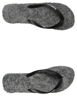 GREY HEATHER MENS FOOTWEAR KUSTOM THONGS - 4976201AGRY