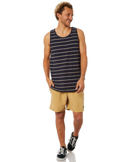 NAVY MENS CLOTHING BILLABONG SINGLETS - 9582507NVY