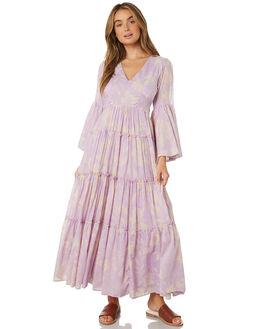 PURPLE COMBO WOMENS CLOTHING FREE PEOPLE DRESSES - OB902398-5003