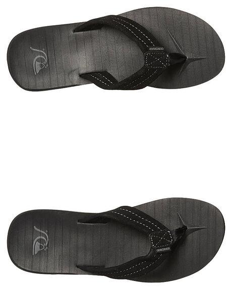 SOLID BLACK MENS FOOTWEAR QUIKSILVER THONGS - AQYL100030SBKM