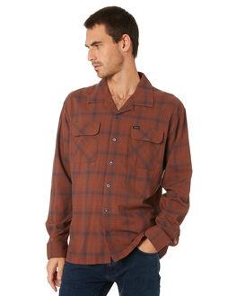 BROWN NAVY MENS CLOTHING BRIXTON SHIRTS - 01167BRNAV