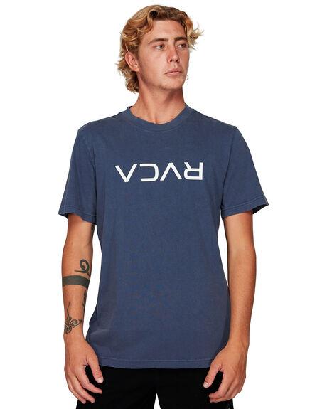 MOODY BLUE MENS CLOTHING RVCA TEES - RV-R191046-MDY