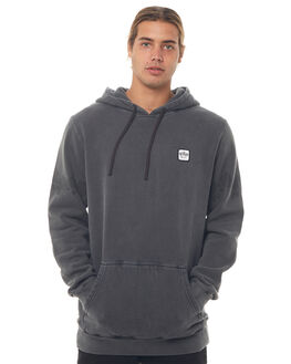 PIRATE BLACK MENS CLOTHING RVCA JUMPERS - R184153PBLK