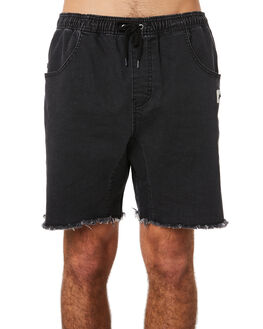 VINTAGE BLACK MENS CLOTHING RUSTY SHORTS - WKM0784VBL