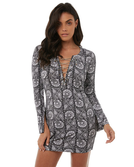 CHARCOAL WOMENS CLOTHING TIGERLILY DRESSES - T383403CHAAR