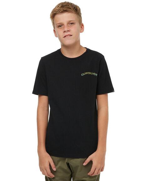 BLACK KIDS BOYS QUIKSILVER TEES - EQBZT03676KVJ0