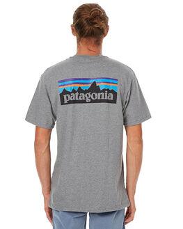 GRAVEL HEATHER MENS CLOTHING PATAGONIA TEES - 38906GLH