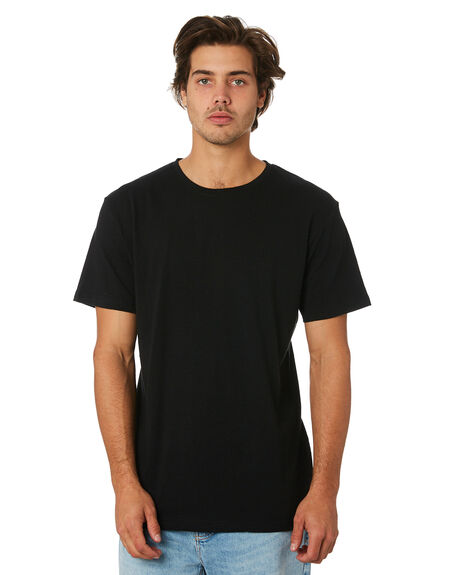 BLACK MENS CLOTHING RHYTHM TEES - APR19M-CT03-BLK