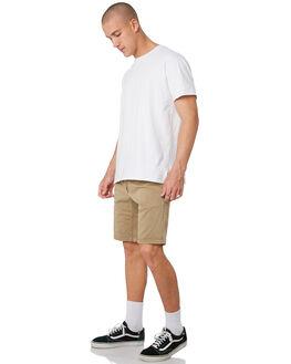 WASHED KHAKI MENS CLOTHING DEPACTUS SHORTS - D5193232WKHA