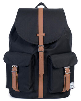 BLACK TAN MENS ACCESSORIES HERSCHEL SUPPLY CO BAGS + BACKPACKS - 10233-00001-OS
