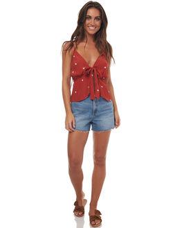 RUST RED STAR WOMENS CLOTHING RUE STIIC FASHION TOPS - SO1716FRUSTR