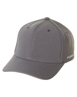 STEEL GREY MENS ACCESSORIES FLEX FIT HEADWEAR - 1616213SGRY