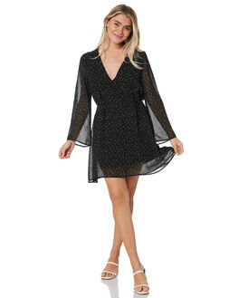 BLACK WOMENS CLOTHING RUSTY DRESSES - DRL1043BLK