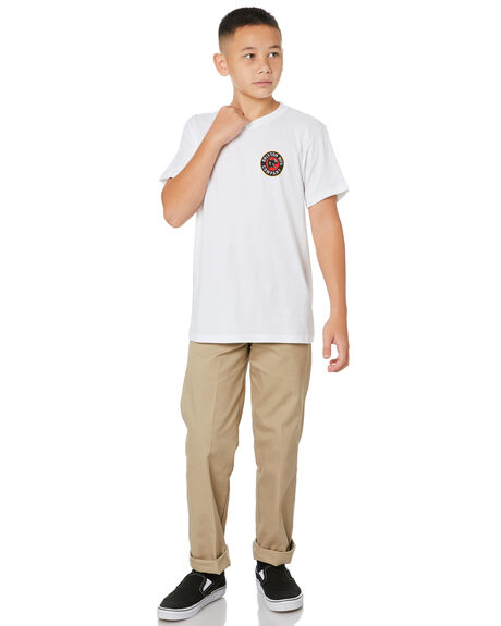 WHITE KIDS BOYS BRIXTON TOPS - 16229WHITE