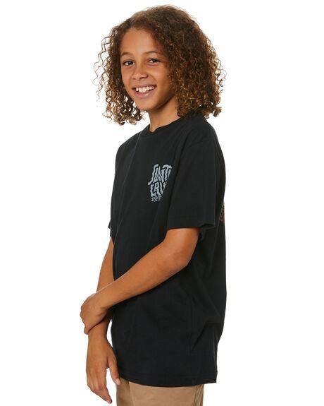 BLACK KIDS BOYS SANTA CRUZ TOPS - SC-YTA0556BLK