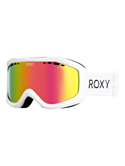 BRIGHT WHITE BOARDSPORTS SNOW ROXY GOGGLES - ERJTG03111-WBB0