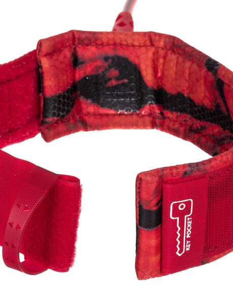 RED BOARDSPORTS SURF QUIKSILVER LEASHES - EGLHHLINE7RED
