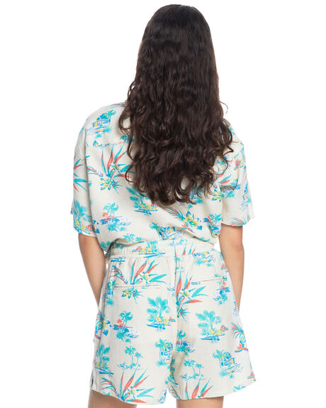 SNOW WHITE LIPSTICK WOMENS CLOTHING QUIKSILVER SHORTS - EQWNS03038-WBK6