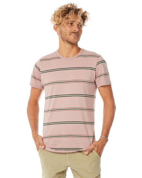 PALE MAUVE MENS CLOTHING BANKS TEES - WTS0270PMV