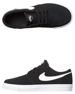 BLACK WHITE KIDS BOYS NIKE SNEAKERS - 905209-010