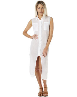 WHITE WOMENS CLOTHING THE BARE ROAD DRESSES - 6-9-2302-3-01WHT