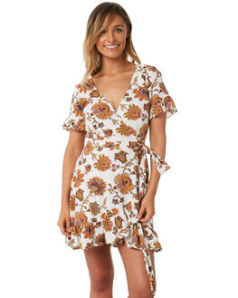WHITE WOMENS CLOTHING TIGERLILY DRESSES - T382450WHT